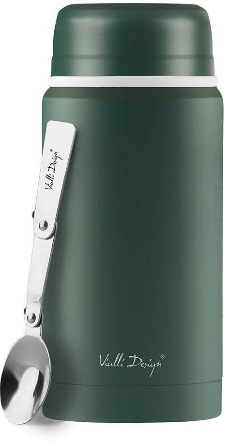 Termos obiadowy z łyżką Vialli Design Fuori 750 ml - zielony