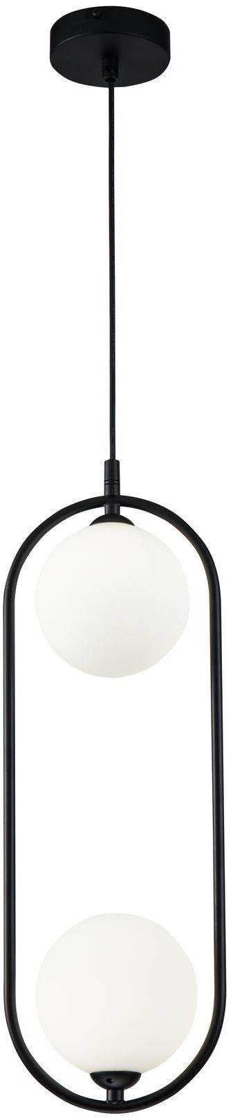 Lampa wisząca Ring MOD013PL-02B Maytoni dekoracyjna oprawa w kolorze czarnym