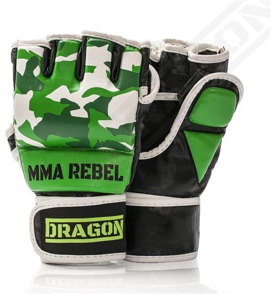 Dragon Sports rękawice MMA Rebel Moro zielone