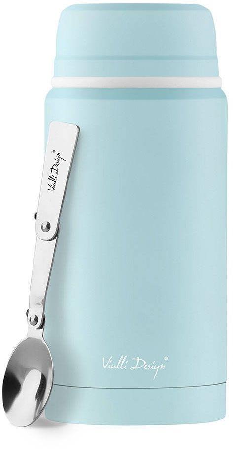 Termos obiadowy z łyżką Vialli Design Fuori 750 ml - miętowy