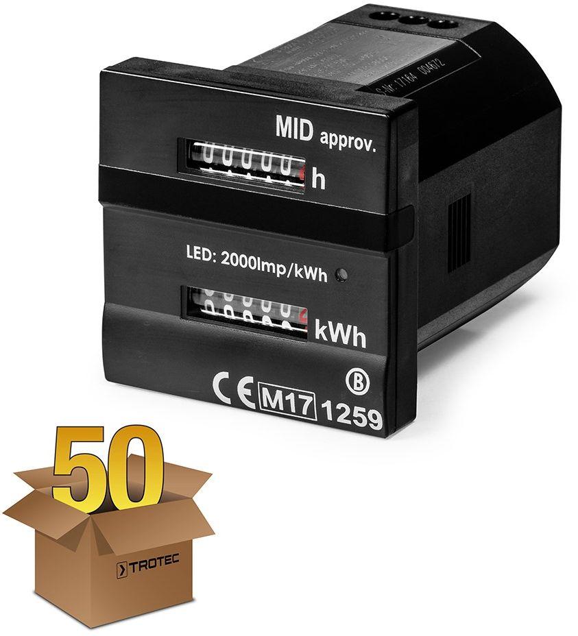 Podwójny licznik roboczogodzin i zużycia energii zgodny z MID w 50-paku