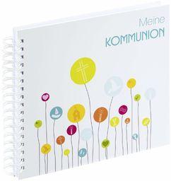 Hama Spiralny album na komunię, 28 x 24 cm, (album komunijny, 50 białych pustych stron, na maks. 100 zdjęć 10 x 15), księga gości, album pamiątkowy kolorowy/biały