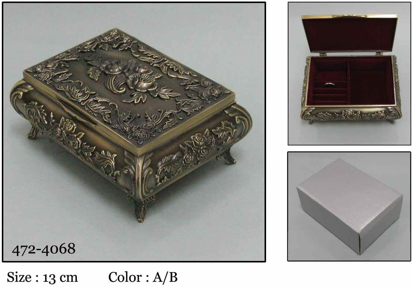 Kasetka, stare złoto, 12x9 cm