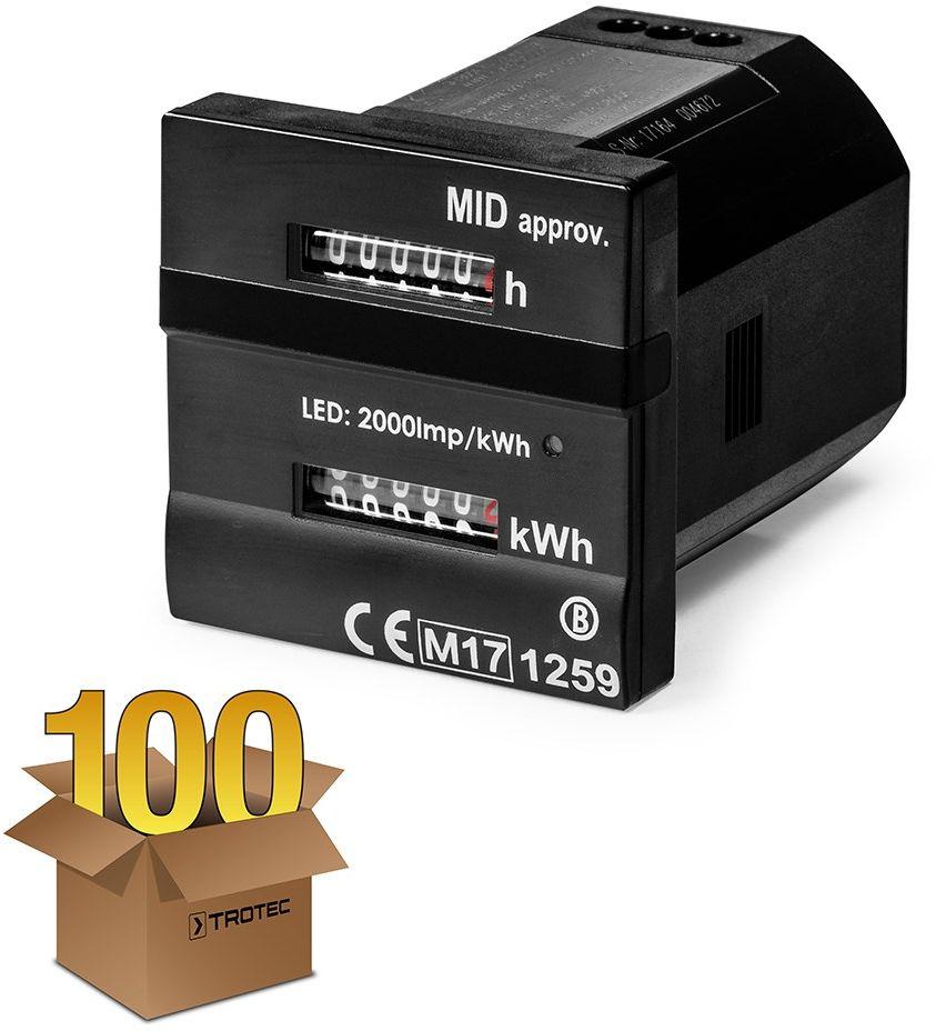 Podwójny licznik roboczogodzin i zużycia energii zgodny z MID w 100-paku