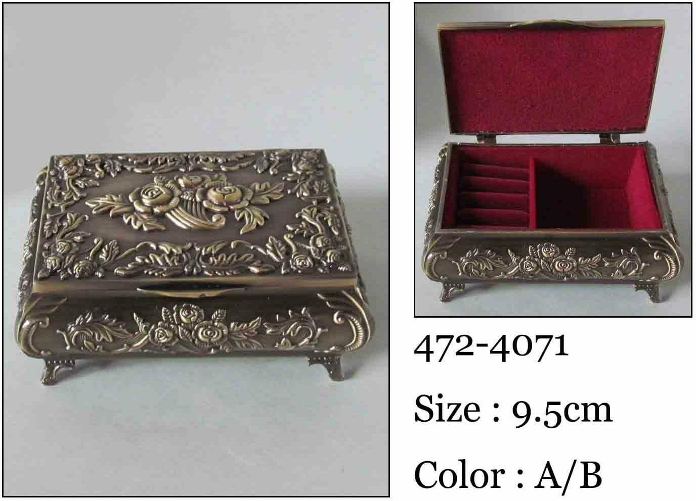 Kasetka, stare złoto 9x6,5 cm