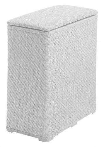Kosz na bieliznę z pokrywką 50x55x28 cm, biały
