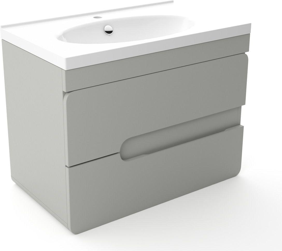 Szafka pod umywalkę LOFT 80 szary mat  Kupuj w Sprawdzonych sklepach