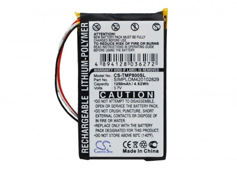 TomTom Pro 8000 / SIMPLOM420102829 1250mAh 4.63Wh Li-Polymer 3.7V (Cameron Sino)