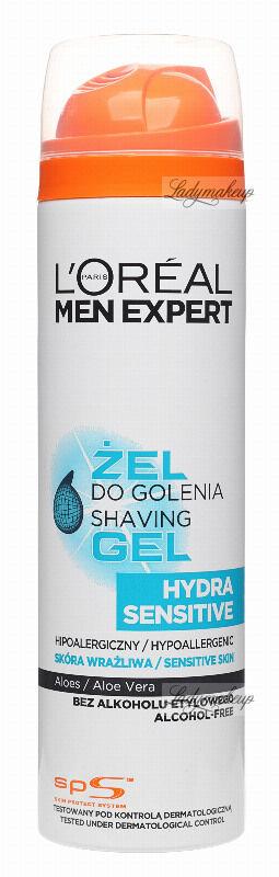 L''Oréal - MEN EXPERT - HYDRA SENSITIVE - SHAVING GEL - Hipoalergiczny żel do golenia dla skóry wrażliwej - 200 ml