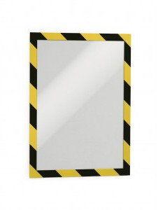 Ramka magnetyczna samoprzylepna DURAFRAME SECURITY A4 dwukolorowa żółto-czarna 2 szt. 4944 130
