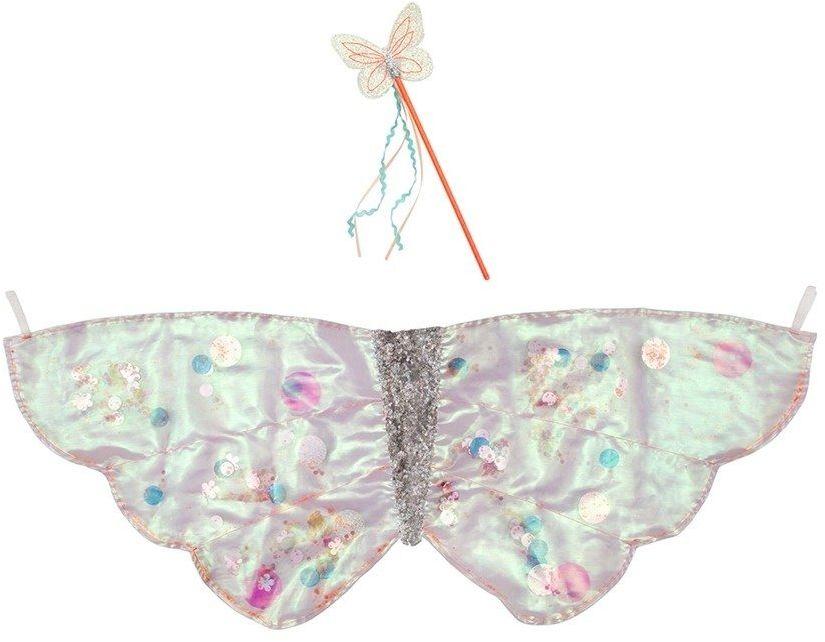 Meri meri przebranie motylek cekinowy