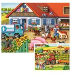 Ravensburger - gospodarstwo rolne, 2 x 20 puzzli