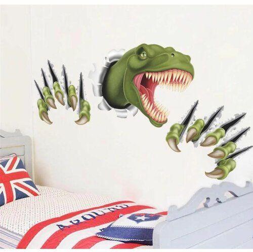 Naklejka 3D Dinozaur, zielony