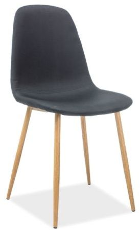 Krzesło FOX czarne/dąb