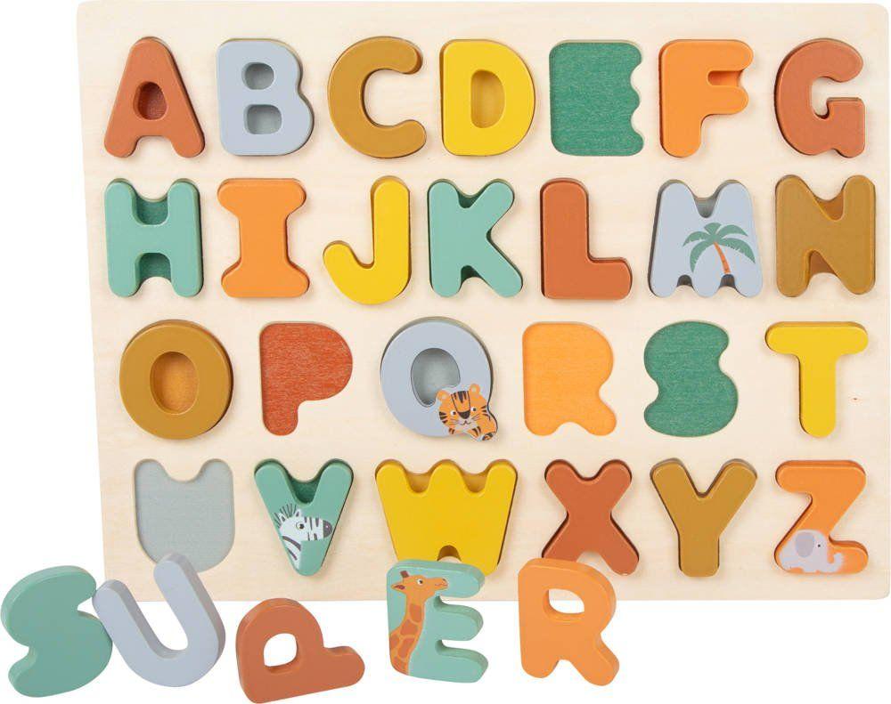 Układanka dla dzieci alfabet Super Safari 11703-Small Foot, zabawki edukacyjne