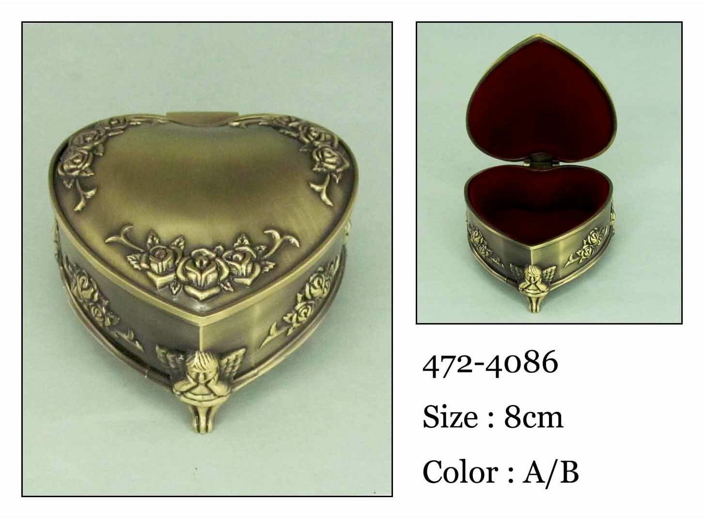 Kasetka, stare złoto, 9x7 cm