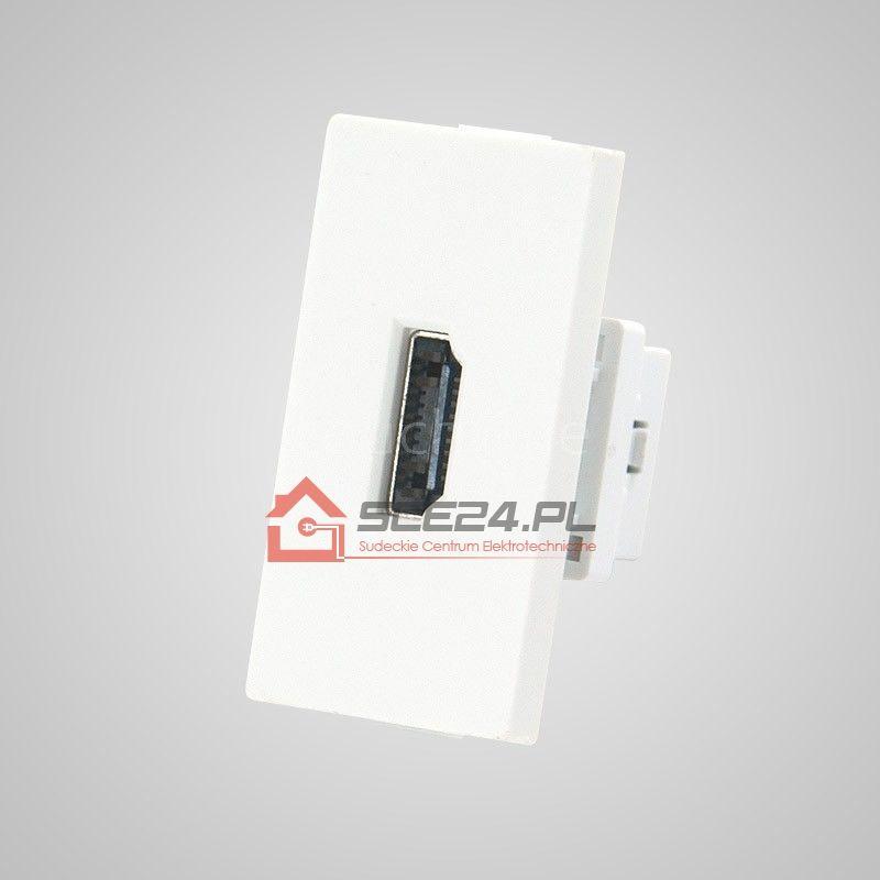 Moduł 1/2, gniazdo HDMI, białe