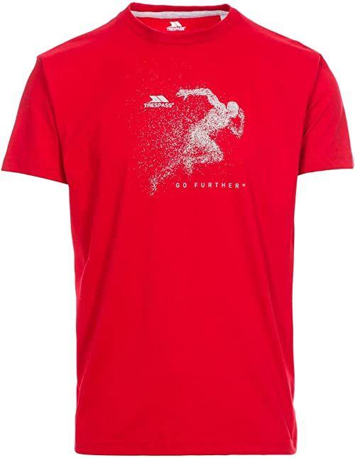Trespass Męska koszulka z krótkim rękawem Lyons czerwona, S
