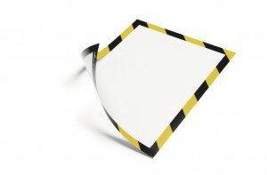 Ramka magnetyczna SECURITY A4 dwukolorowa żółto-czarna 5 szt. /4945130/
