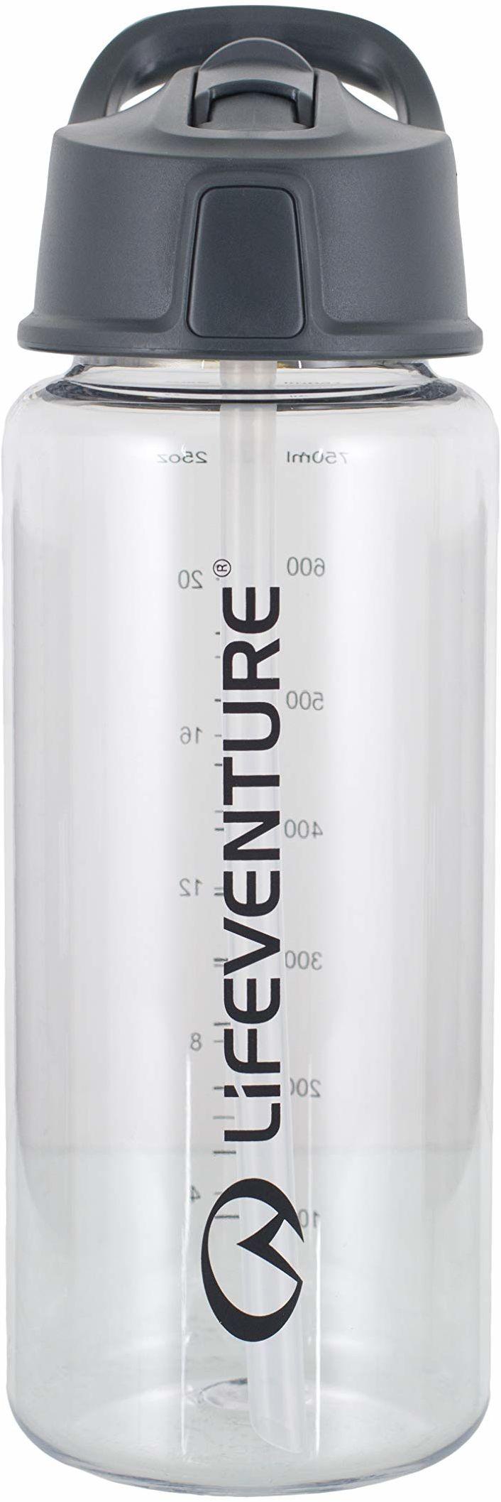 Lifeventure Unisex''s Flip-Top butelka na wodę, przezroczysta, 750 ml