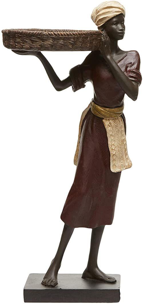 Better & Best dekoracyjny kosz damski wyciągany traje, wino, fartuch i turban, biały, wymiary: 13,5 x 10 x 30 cm, materiał: żywica, rozmiar uniwersalny