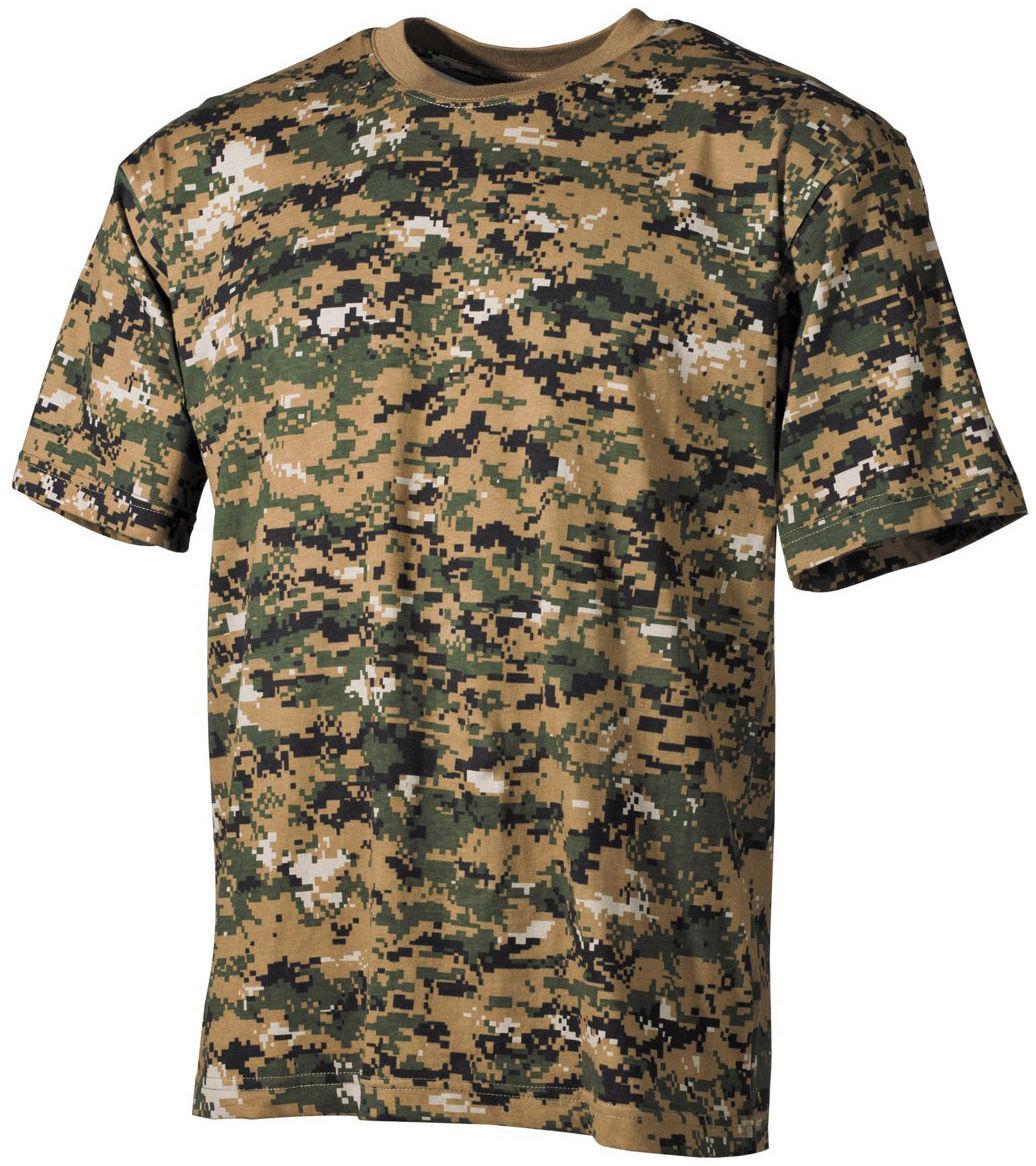 Koszulka T-shirt MFH Digital Woodland (00104C)