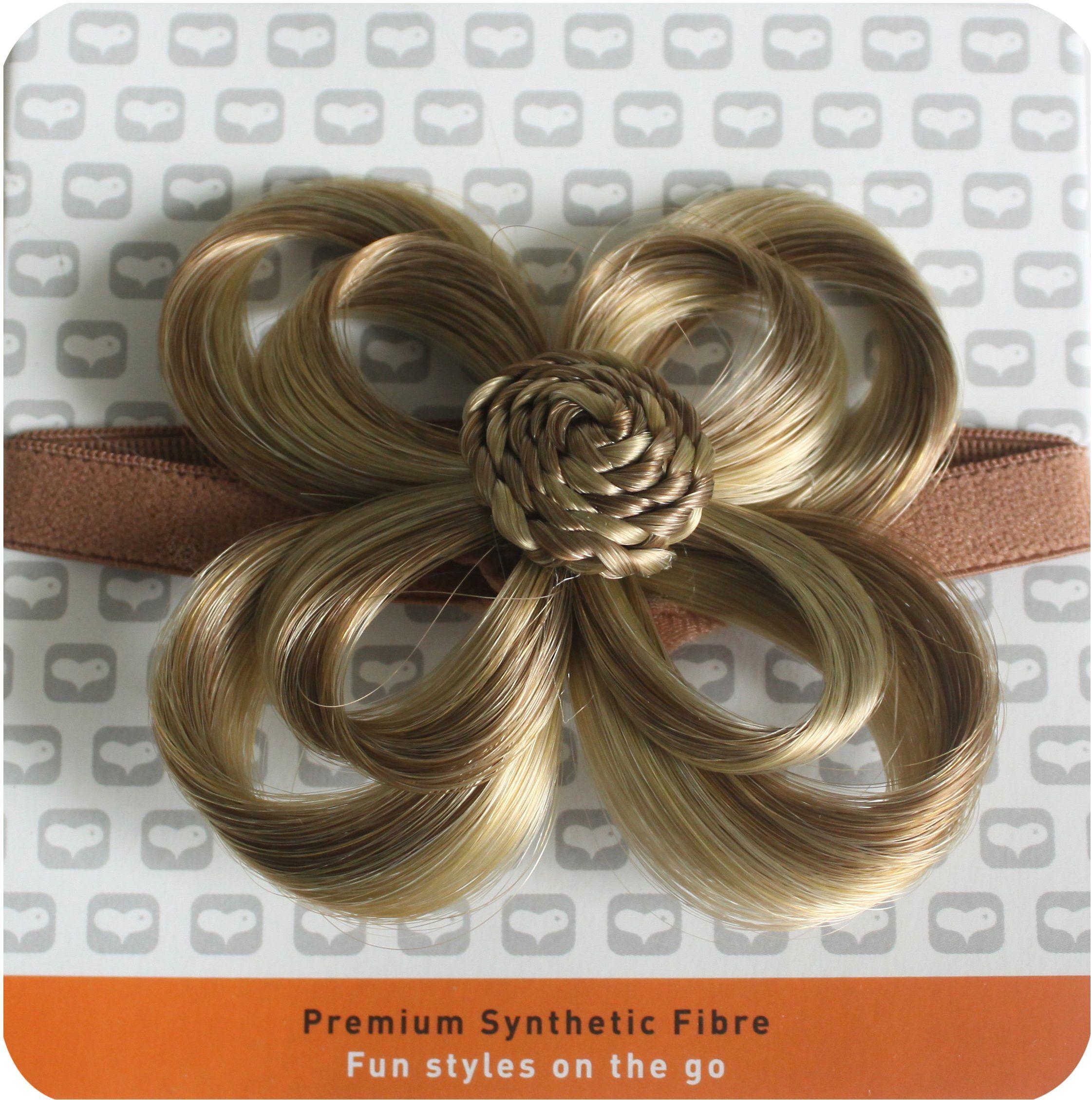 Love Hair Extensions Kwiaty na elastycznej opasce na głowę kolor 10/22  średni brąz popielaty/blond, 1 opakowanie (1 x 1 sztuka)