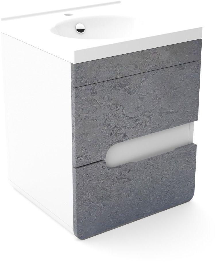 Szafka pod umywalkę LOFT 50 beton/biały mat  Kupuj w Sprawdzonych sklepach