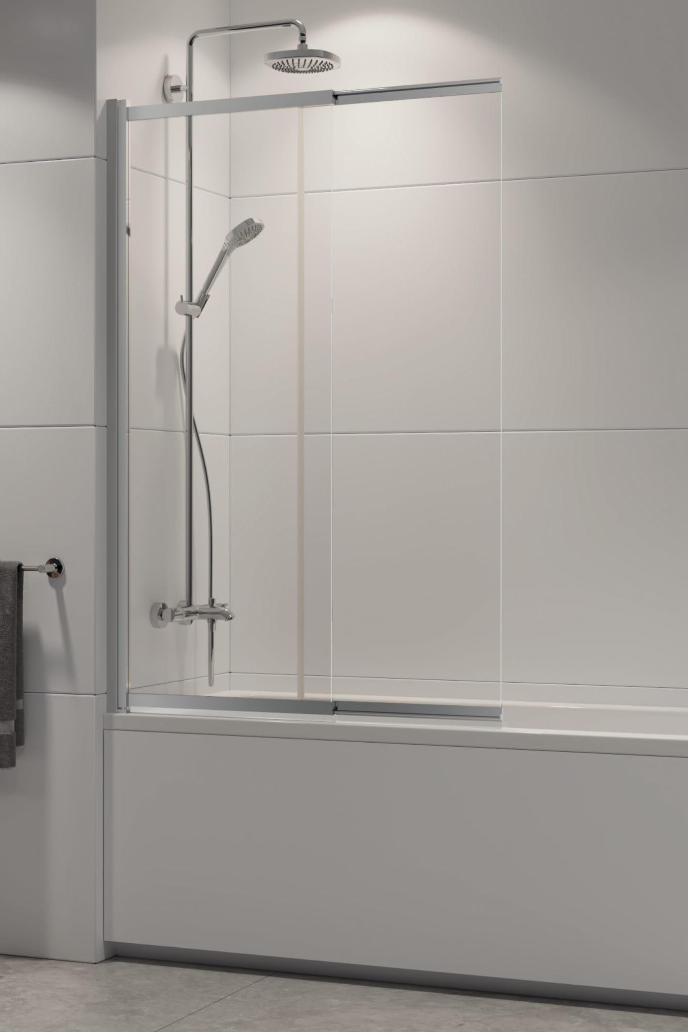 New Trendy parawan nawannowy Sensi 85 cm, wys. 150 cm, szkło czyste 5 mm P-0037