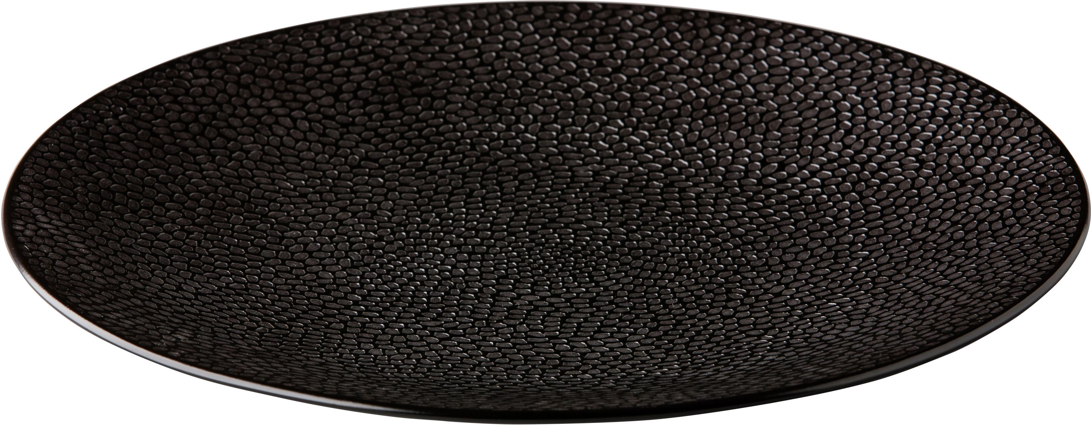 Talerz płytki Honeycomb czarny 210 mm porcelana Fine Dine 773130