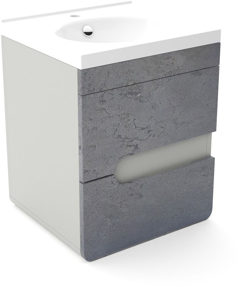 Szafka pod umywalkę LOFT 50 beton/szary mat  Kupuj w Sprawdzonych sklepach