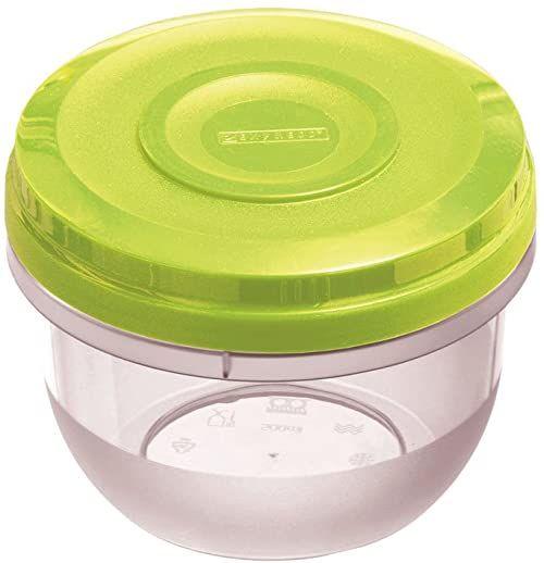 Dajar Pojemnik do kuchenki mikrofalowej Fusion Fresh Limette 0,5 l, tworzywo sztuczne, przezroczysty zielony, 11 x 11 x 9 cm