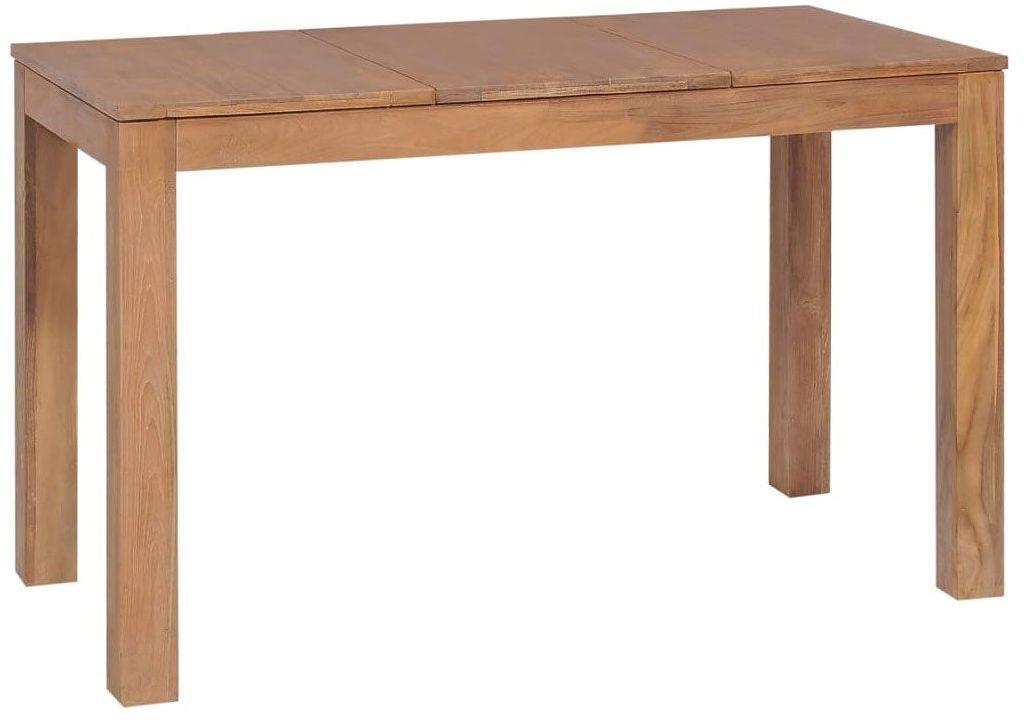 Stół z drewna tekowego Margos 2X  brązowy