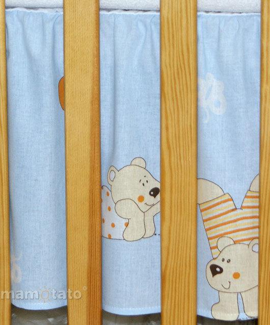 MAMO-TATO Falbanka do łóżeczka 60x120 Baloniki błękitne
