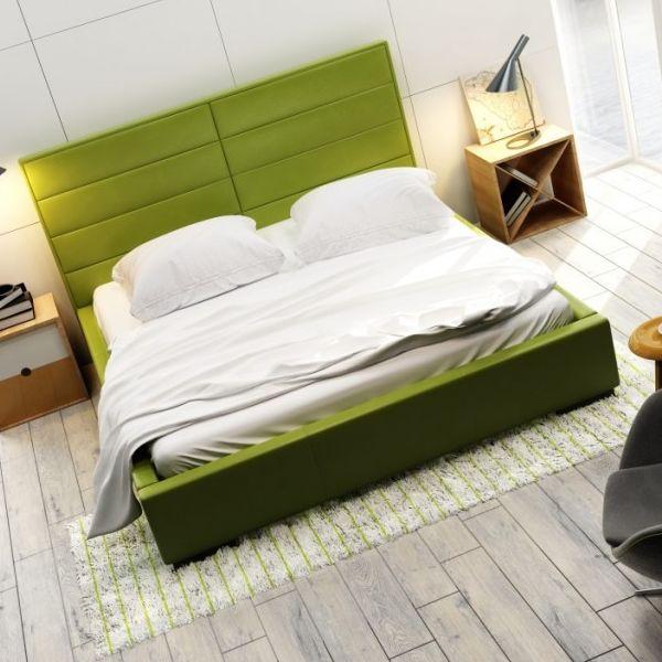 Łóżko QUADDRO DOUBLE NEW DESIGN tapicerowane, Rozmiar: 140x200, Tkanina: Grupa II, Pojemnik: Bez pojemnika Darmowa dostawa, Wiele produktów dostępnych od ręki!