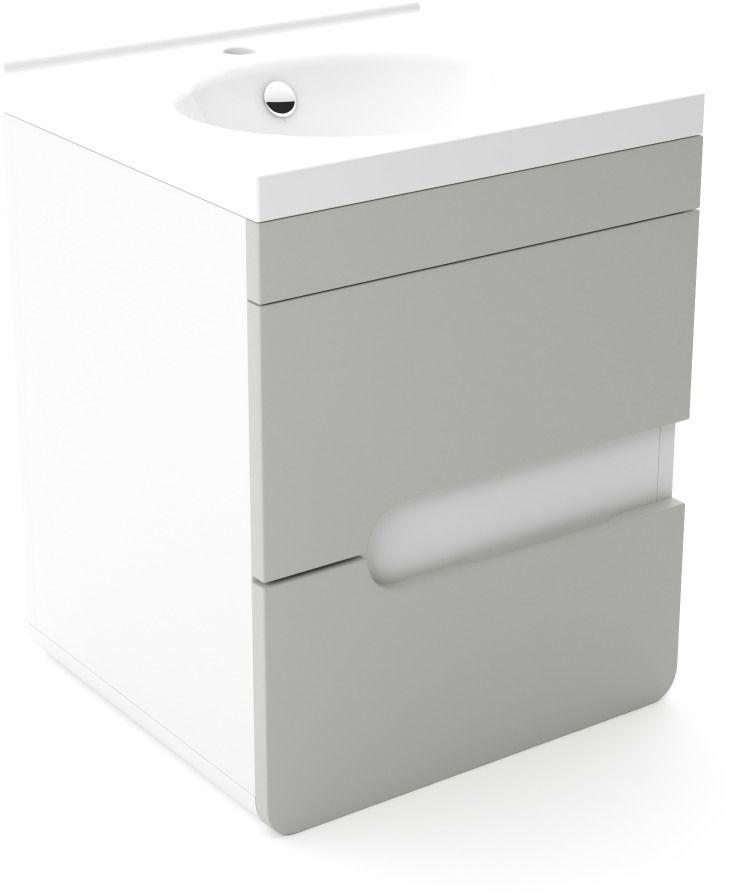 Szafka pod umywalkę LOFT 50 szary mat/biały mat  Kupuj w Sprawdzonych sklepach