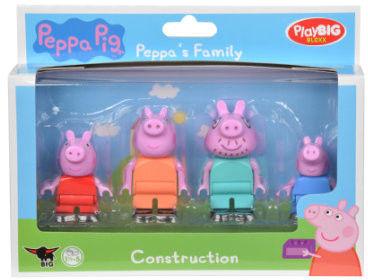 Big - Klocki Świnka Peppa Rodzina Peppy zestaw figurek 57113