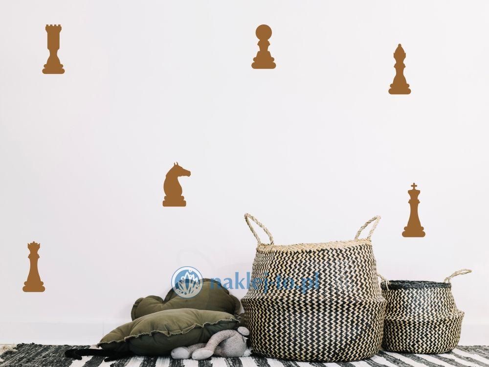 Figury szachowe naklejki naklejka na ścianę