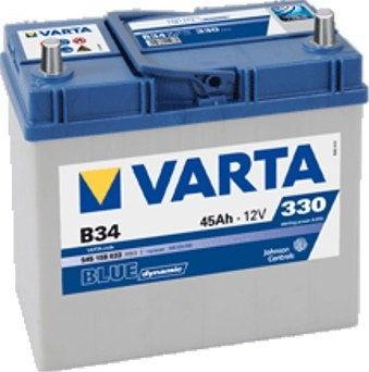 Akumulator VARTA Blue Dynamic B34 12V 45Ah 330A (EN) L+