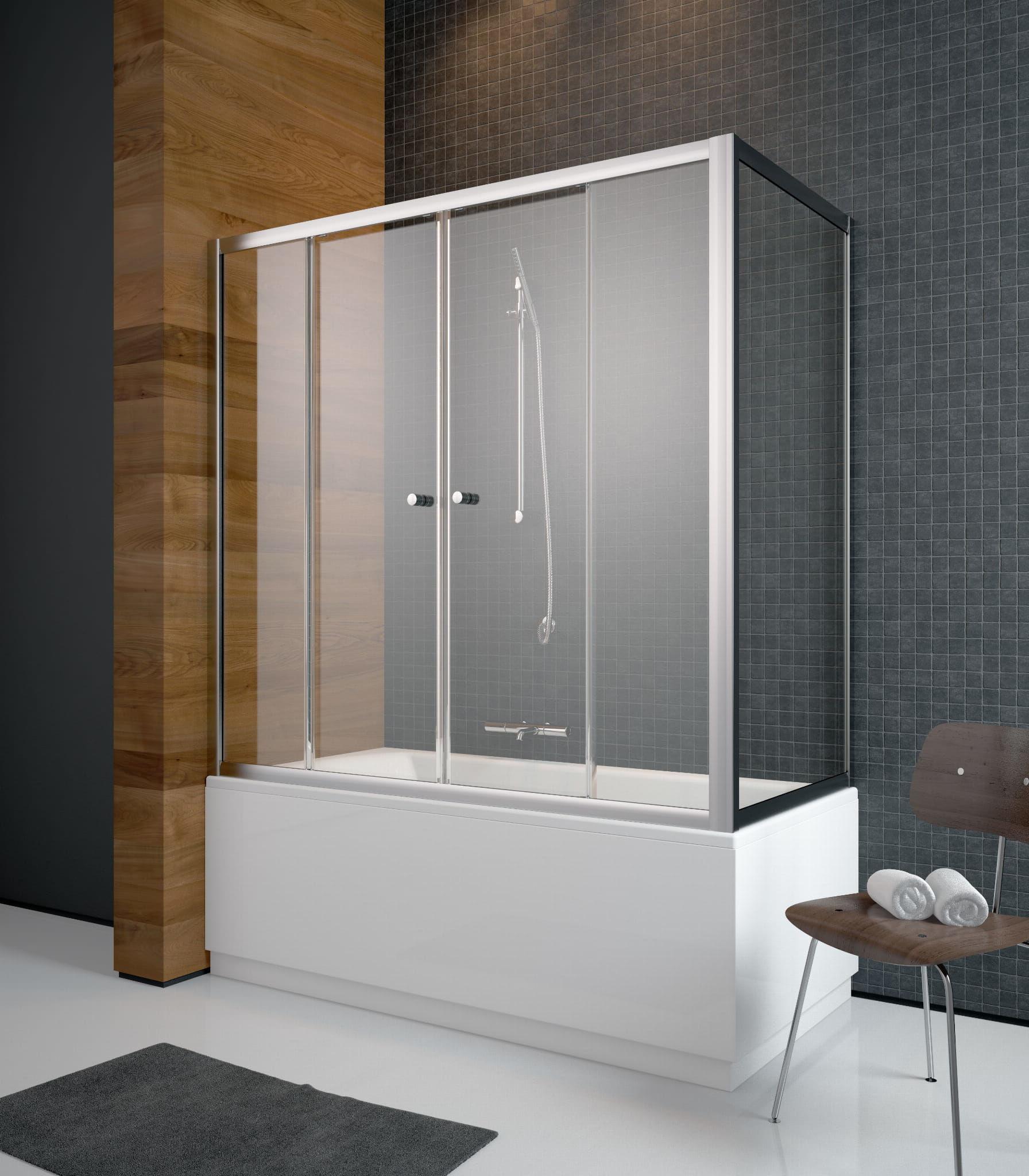 Radaway zabudowa nawannowa Vesta DWD+S 160 x 65, szkło Fabric, wys. 150 cm 203160-06/204065-06