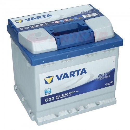 Akumulator VARTA Blue Dynamic C22 12V 52Ah 470A (EN) P+