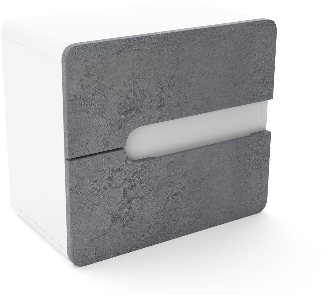 Szafka pod umywalkę nablatową LOFT 60 beton/biały mat  Kupuj w Sprawdzonych sklepach