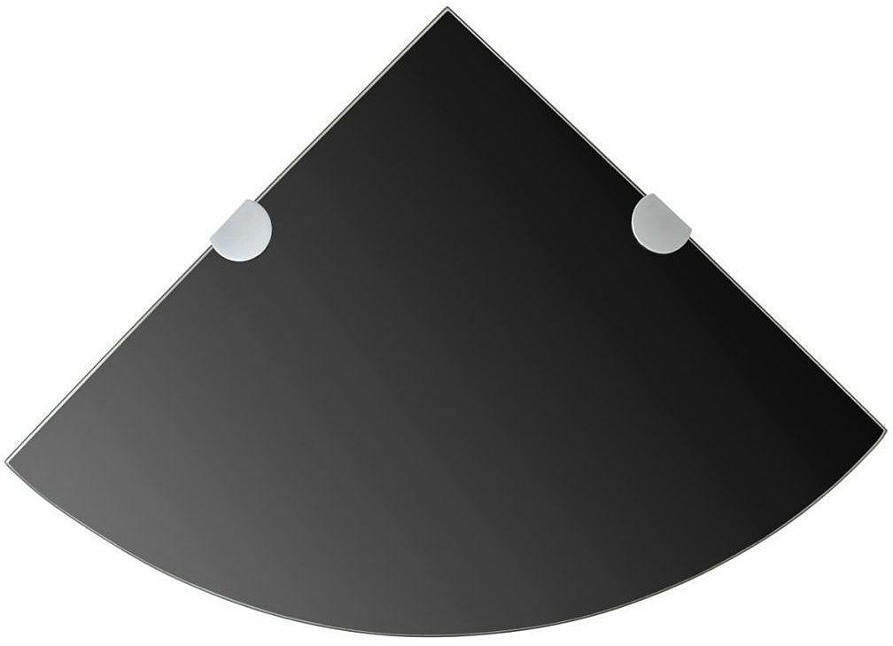 Czarna szklana półka narożna - Gaja 2X