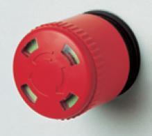 Grzybek bezpieczeństwa średnica 30mm z podglądem, odkręcić do uwolnienia PPFN1R3S