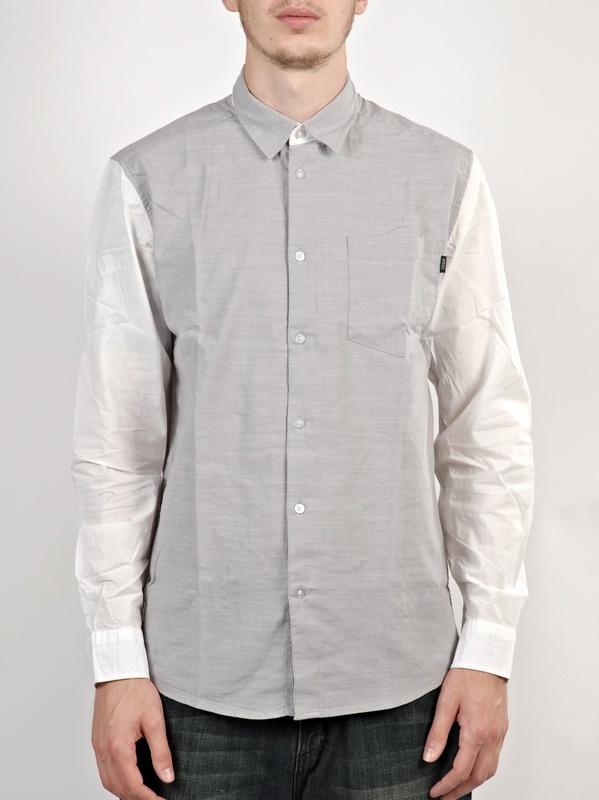 WESC Elmont silver sconce koszulka z długim rękawem męska - M