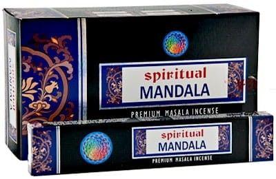 Kadzidełka Mandala Yoga Harmonia Pyłkowe Spiritual 15gx12szt.