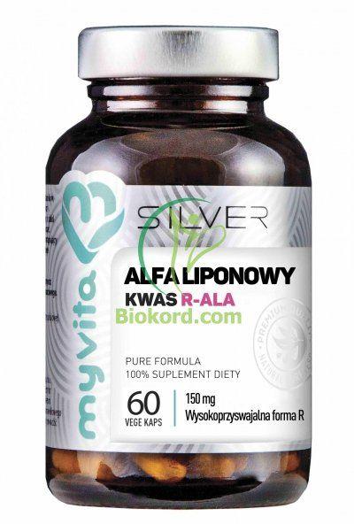 Kwas Alfaliponowy R-ALA 100% SILVER PURE, Kapsułki, Myvita