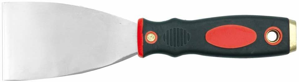 Szpachelka nierdzewna 80mm, dwukolorowy uchwyt Vorel 05905 - ZYSKAJ RABAT 30 ZŁ