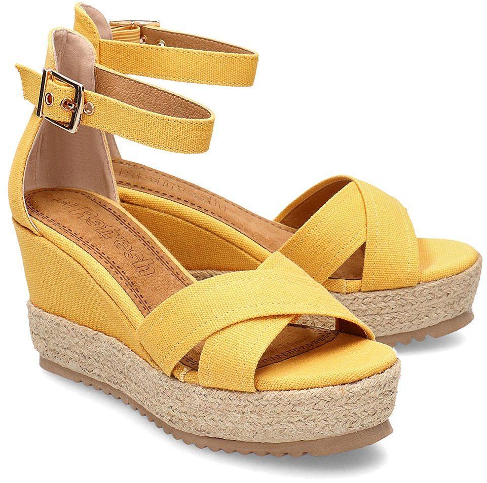 Refresh - Sandały Damskie - 69586 YELLOW - Żółty
