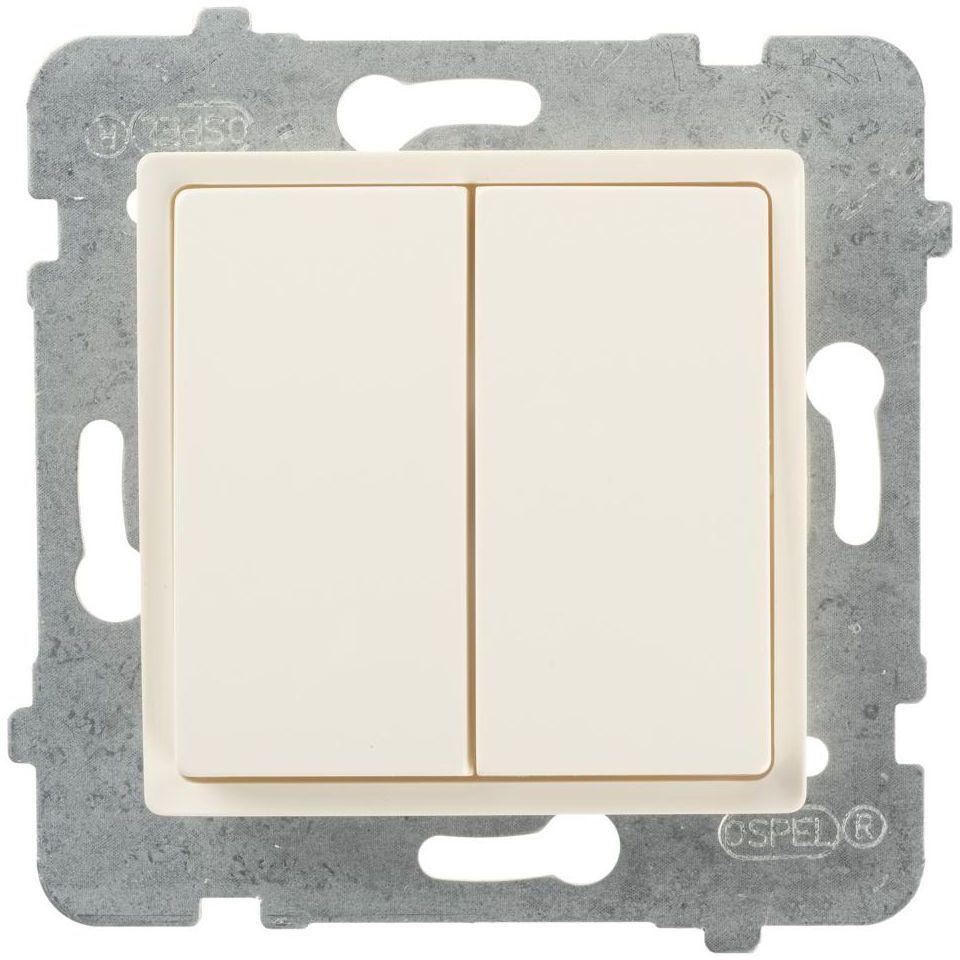 Włącznik schodowy PODWÓJNY ROSA Kremowy POLMARK
